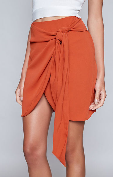 The Fifth Tambourine Skirt Burnt Orange