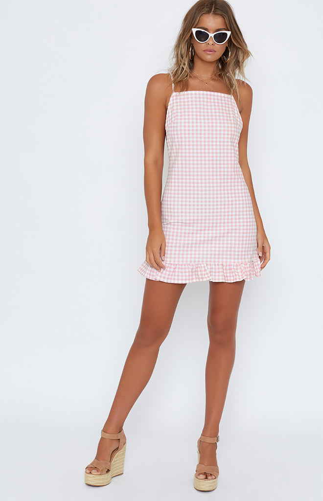 Nicola Dress Pink Gingham