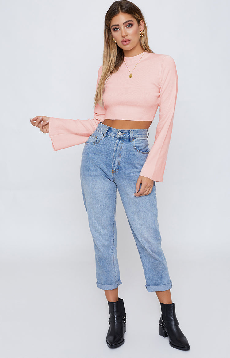 River Wild Long Sleeve Top Pink