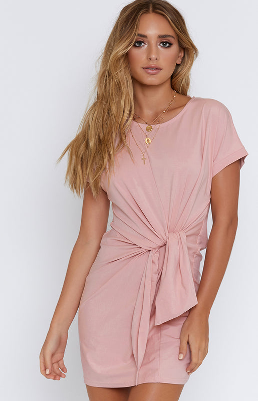 Tied Down Dress Blush
