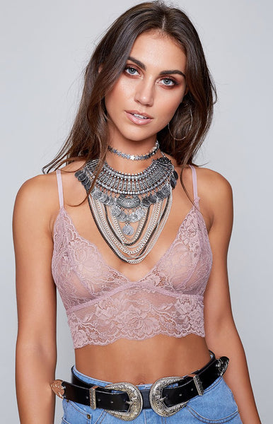 Chantilly Lace Bralette Blush