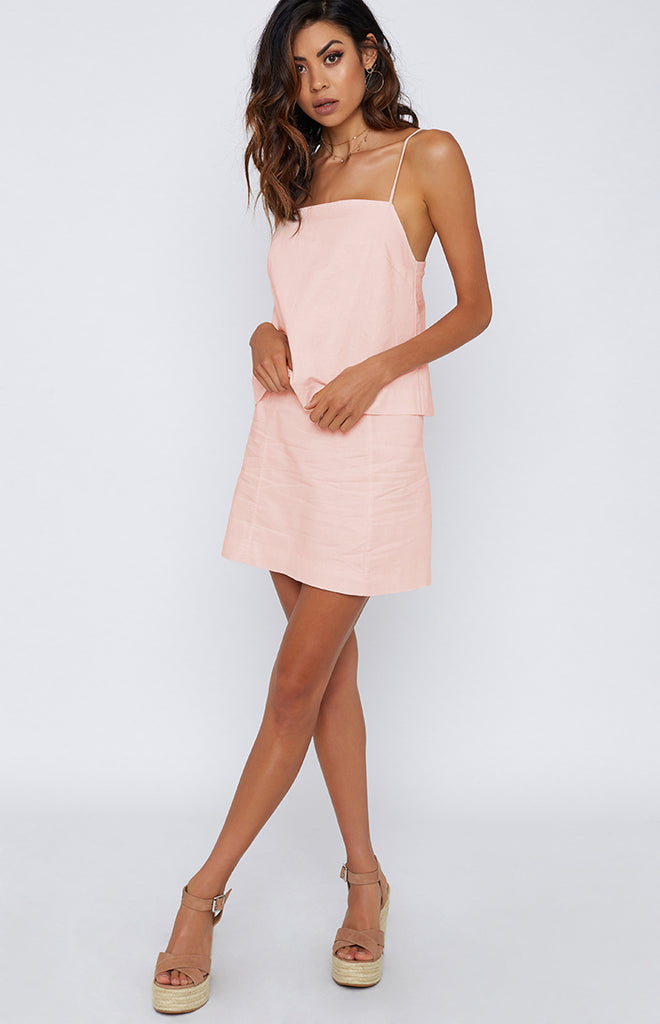 Nude Lucy Lunar Linen Skirt First Blush