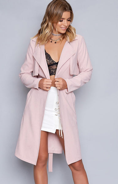 Windsor Trench Coat Blush