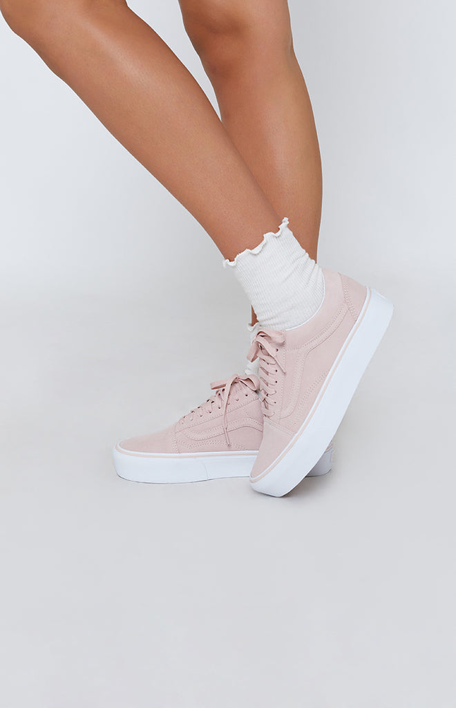f55df232a53 Vans Old Skool Platform Sneakers Sepia Rose   True White – Beginning  Boutique