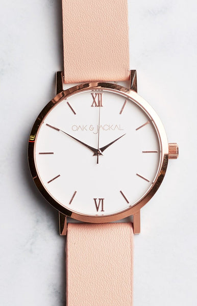 Oak & Jackal Rose Gold And Peach Watch