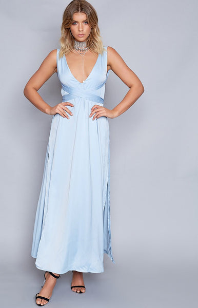 Benson Formal Dress Powder Blue