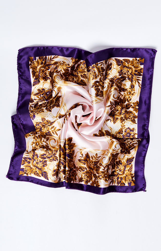Liquid Luck Silky Bandana Purple