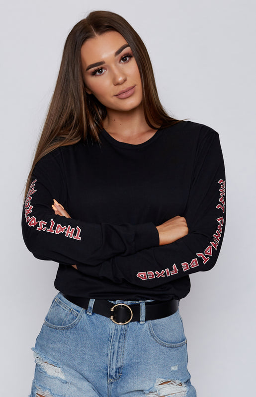 Michael x Shani That's A Problem Long Sleeve Tee