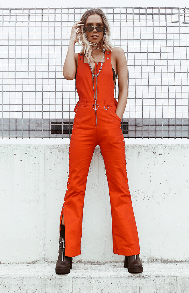 Dazed Dungarees Red