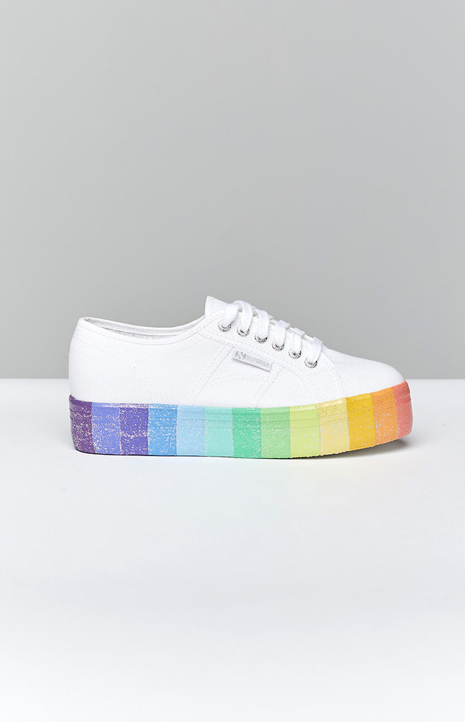 Superga 2790 CotwMulti Glitter Canvas Sneaker Multicolour 8