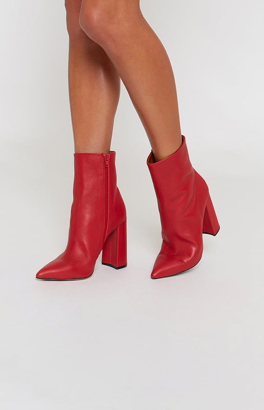 Tony Bianco Diego Boots Red Denver