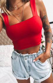 Nellie Crop Red
