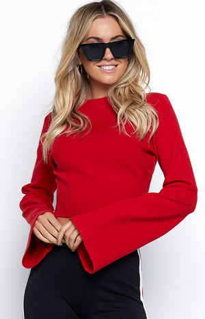 Dreamer Long Sleeve Top Red