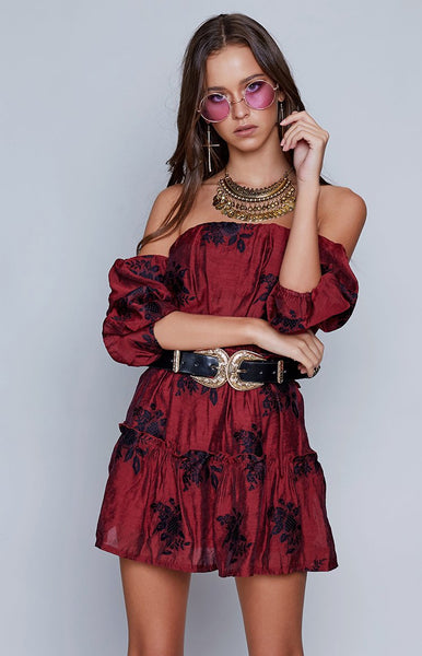 Charlotte Playsuit Red Floral