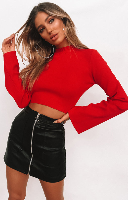 River Wild Long Sleeve Top Red