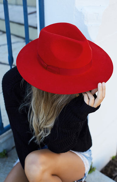Lack Of Color The Love Lost Fedora Ruby Red