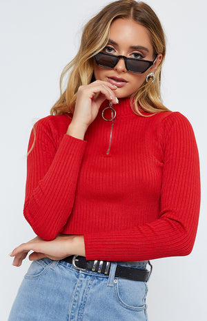 Aubree Jumper Red