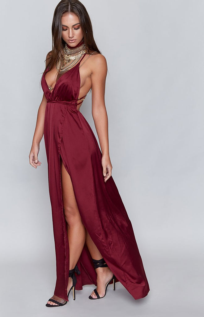 Pandora Formal Dress Wine
