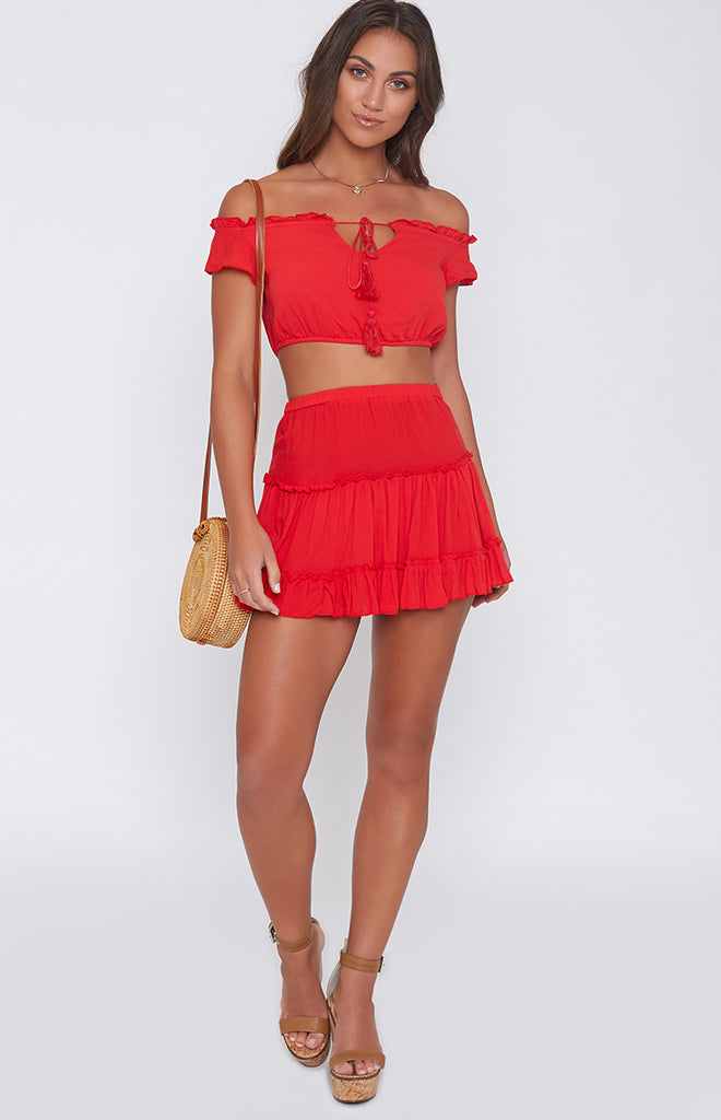 Cha Cha Two Piece Set Red