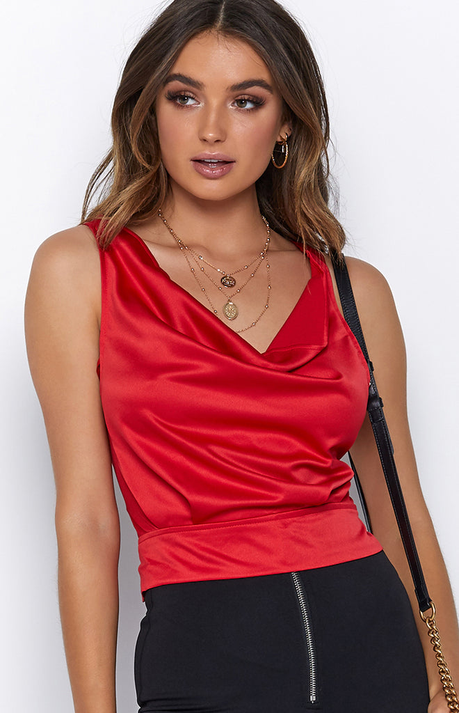 Broken Promise Top Red