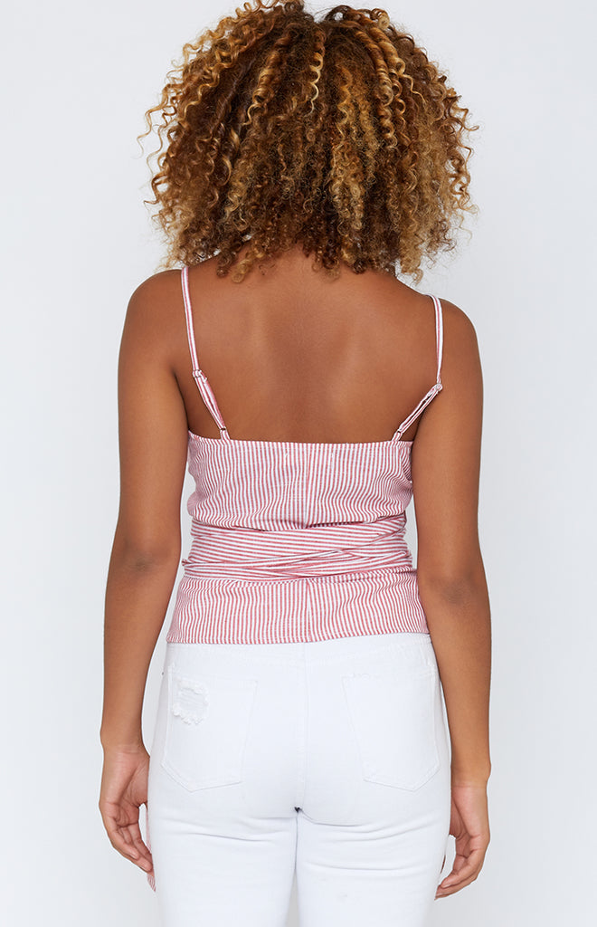 Coral Shores Top Red Stripe
