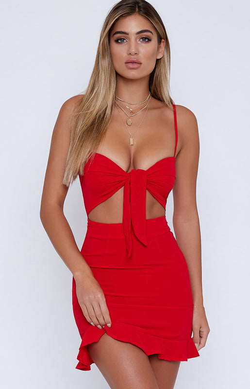 Sure Thing Dress Red