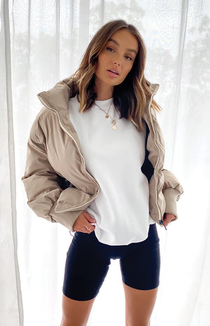Remi Puffer Jacket Nude