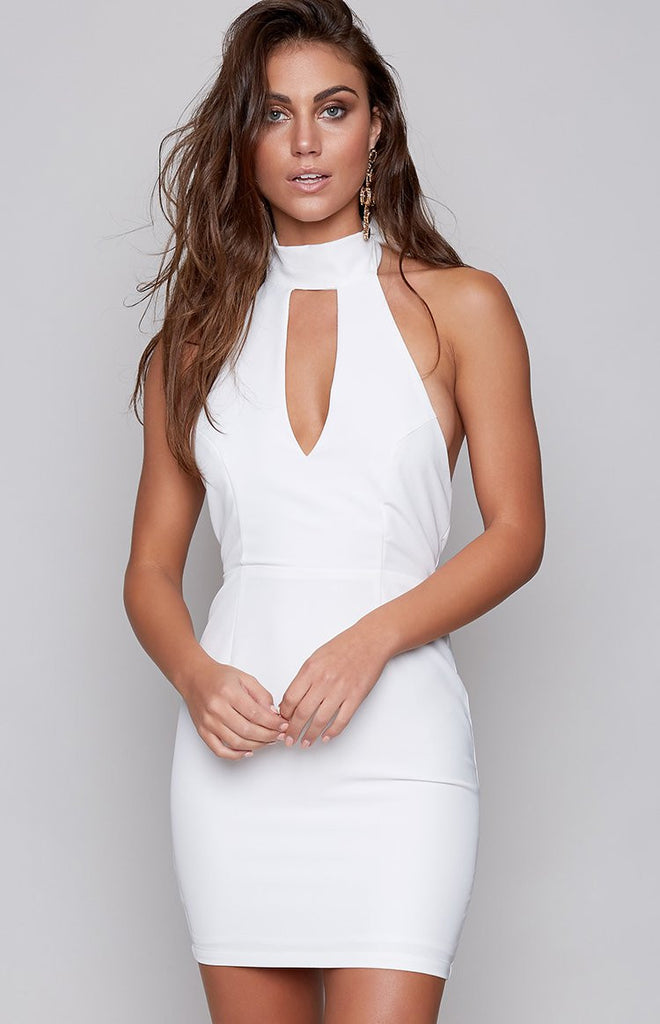 Density Mini Dress White