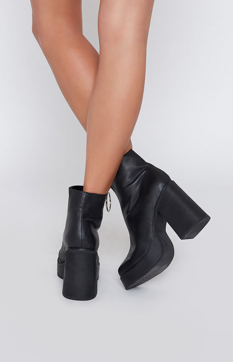 Current Mood Franky Platform Boots Black