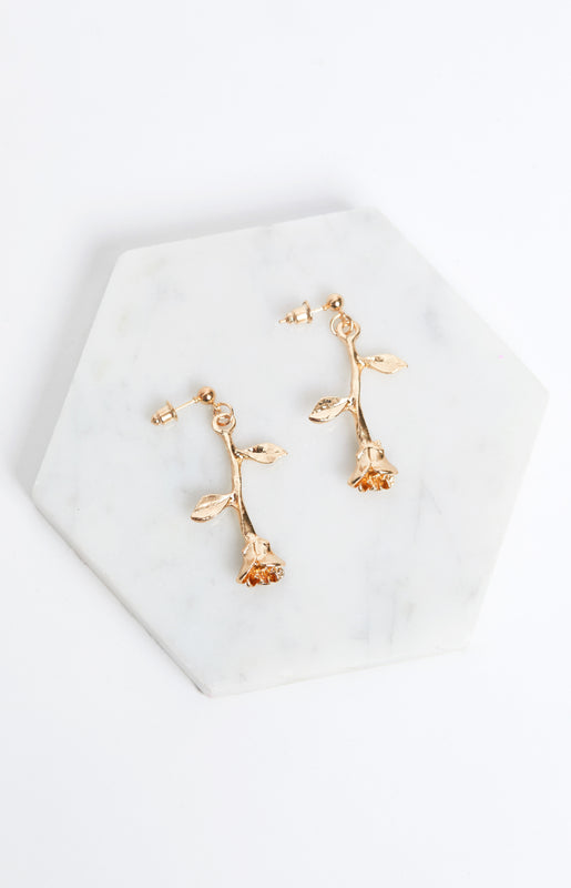 By Any Other Name Earrings Gold
