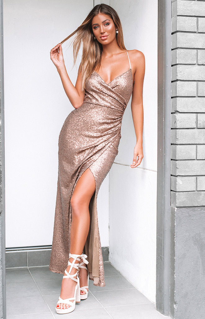 Seven Wonders Formal Dress Rose Gold