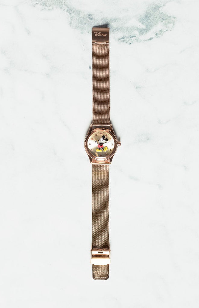 Disney Original Mickey Milanese Watch Rose Gold