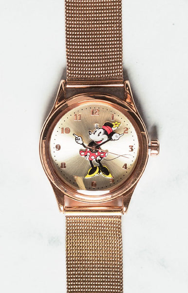 Disney Original Minnie Milanese Watch Rose Gold
