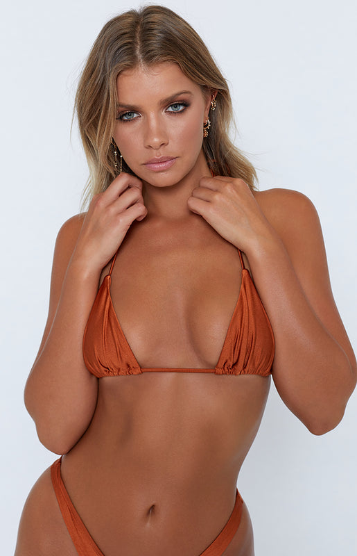 9.0 Swim Tulum Bikini Top Metallic Rust