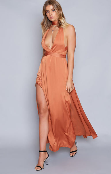 Benson Formal Dress Rust