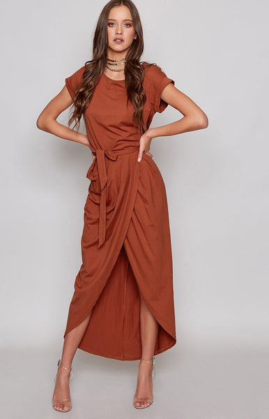 Kate Midi Dress Rust