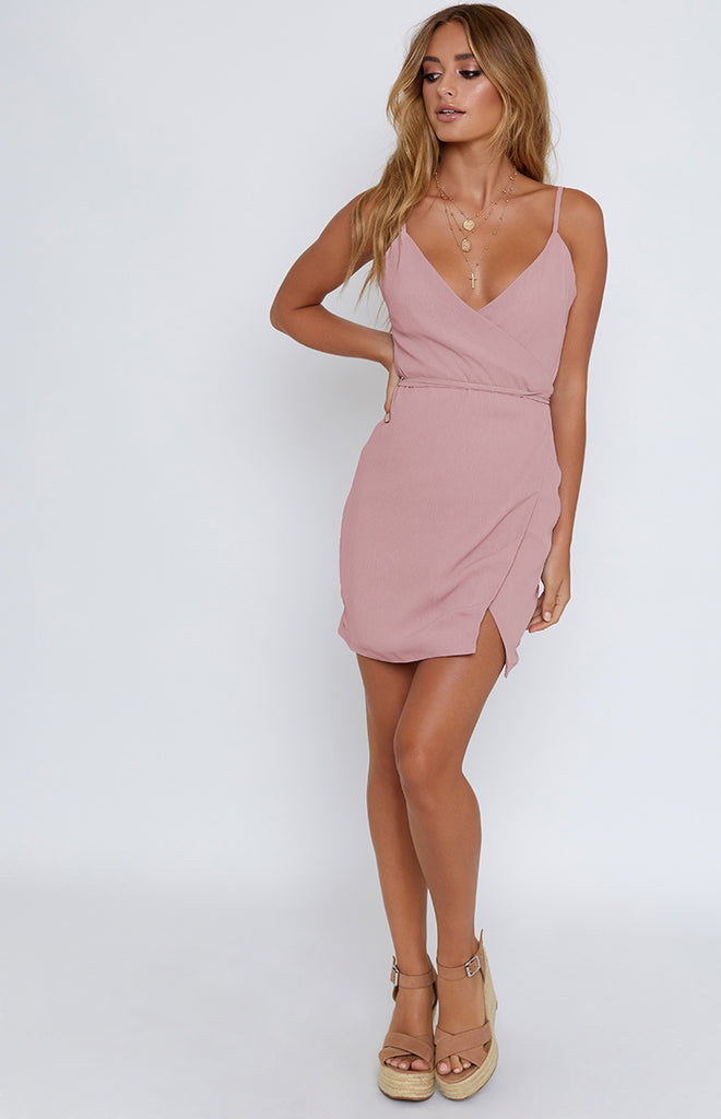 Sasha Mini Wrap Dress Blush