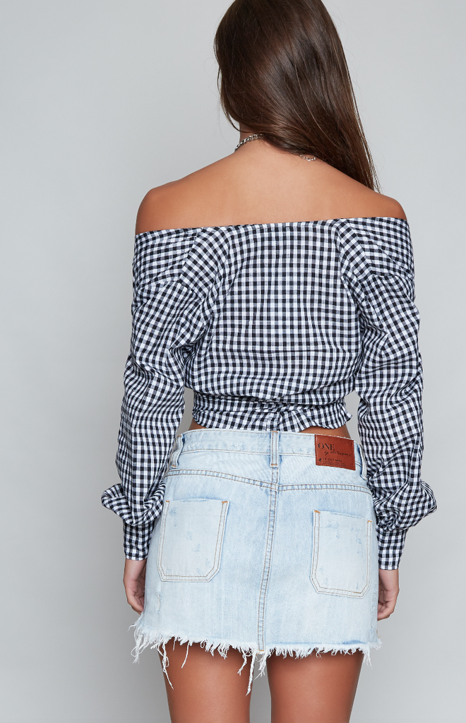 Wrap Me Up Gingham Top