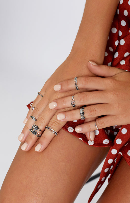 Cali Dreaming Ring Set Silver