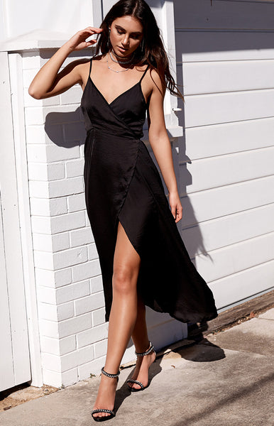 Rydges Wrap Dress Black
