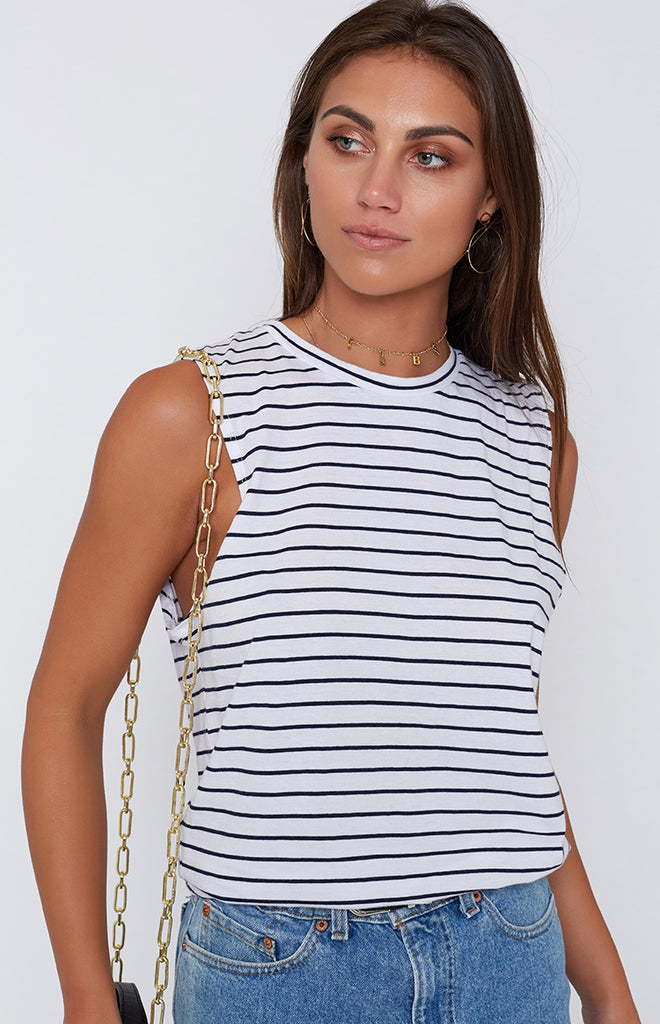 Nude Lucy Keira Basic Muscle Navy Stripe