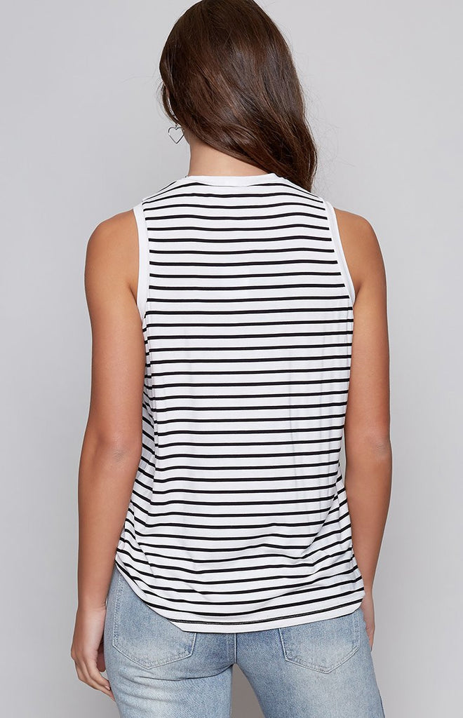 The Fifth Shine By Tank Black White Stripe