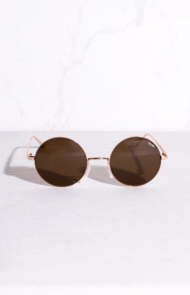 Quay Electric Dreams Sunglasses Rose Brown