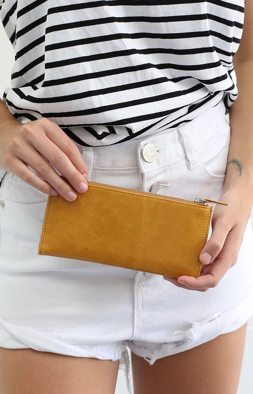 Status Anxiety Dakota Purse Tan