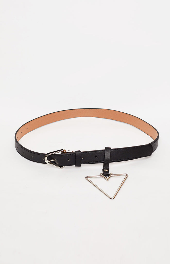 Dimension Triangle Buckle Belt Silver