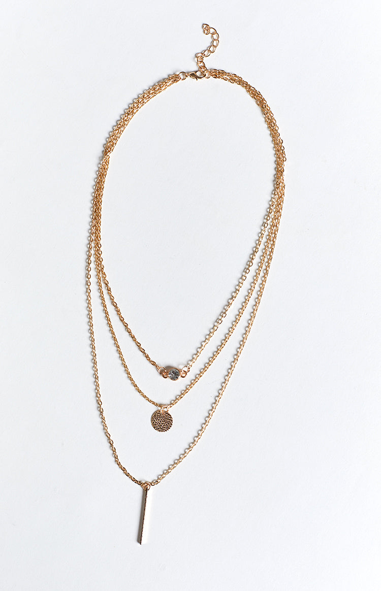 Eclat Kacee Layered Bar Pendant Necklace Gold