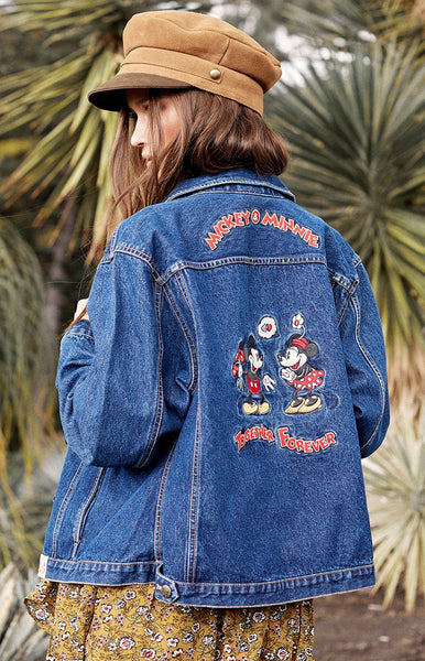Vintage Mickey & Minnie Together Forever Denim Jacket