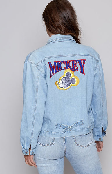 Vintage Glow Mickey Glow Denim Jacket