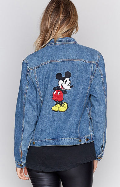 Vintage Bootiful Mickey Embroidered Denim Jacket