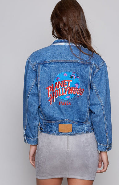 Vintage Planet Hollywood Paris Denim Jacket